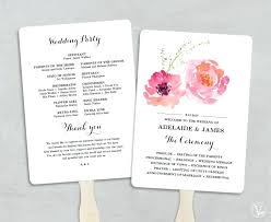 how to make fan wedding programs program to make wedding invitations wedding ceremony program with