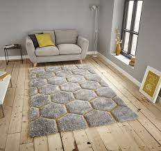 Buy Modern Rugs by Think Rugs Noble House Nh30782 Rugs Grey Yellow Buy Online At