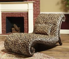 Leopard Chairs Living Room Leopard Print Chaise Lounge ฟ