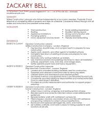 Resume Template For Construction Worker Sample Construction Worker Resume Cbshow Co