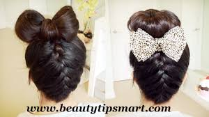 Easy Updo Hairstyles Step By Step by Cute Bow Hairstyles For Long Hair Step Easily Medium Hair Styles