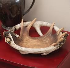 moose deer antler bowl dish
