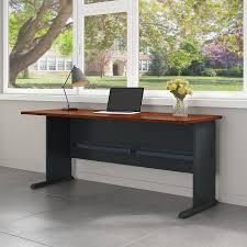 amazon com series a 72w desk in hansen cherry and galaxy kitchen