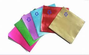 4 different colors 400pcs lot square shaped chocolate aluminium