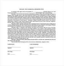 hold harmless agreement template u2013 13 free word pdf document