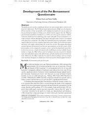 grieving loss of pet development of the pet bereavement questionnaire pdf
