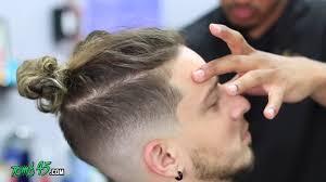 soccer haircut steps man bun haircut tutorial fade youtube