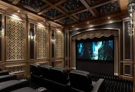 Home Theater Ceiling Lighting Home Theater Lighting With Mini Recessed Downlights And Wall