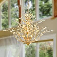 tree chandelier aspen 18 light gold finish tree three tier chandelier