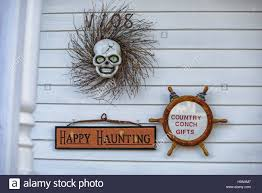 decorations on the country conch gifts store located in