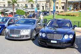 bentley continental flying spur blue monte carlo monaco august 2 2014 british luxury cars bentley
