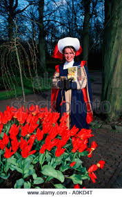 netherlands keukenhof young woman in traditional costume in