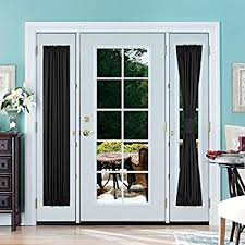 Blackout French Door Curtains Amazon Com Elegance Blackout Sidelight Panel Curtains 25w By 72l