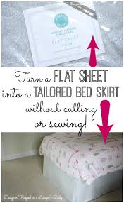 How To Place Throw Pillows On A Bed No Sew Bedskirt Tutorial Mind Blowingly Simple Designer Trapped