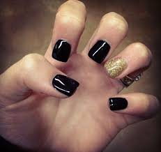 black and gold nail art designs mynailideas black nails with gold