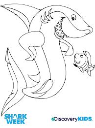 shark u0026 friend coloring discovery kids