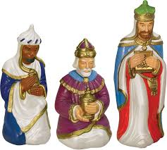 Outdoor Lighted Nativity Set - amazon com nativity scene three wiseman set with light garden