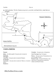 Central America Map Quiz With Capitals by Maps Quiz Spanish Speaking Countries Gratuito Ele Worksheets
