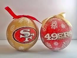 san francisco 49ers nfl led light up christmas tree bauble ball