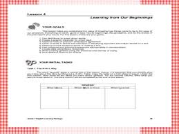 grade 7 english learning package