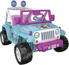 jeep lifted pink amazon com power wheels disney frozen jeep wrangler toys u0026 games