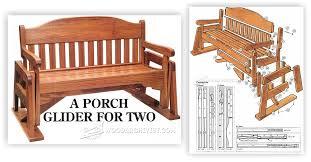 porch glider plans u2022 woodarchivist