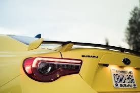 subaru brz spoiler review 2017 subaru brz inazuma edition canadian auto review