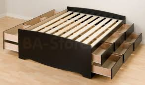 bed frames queen platform bed with storage and headboard full
