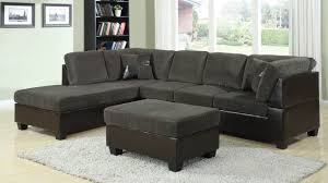 Olive Green Shag Rug Connell Contemporary Dark Gray Sectional Sofa W Pillows 55955