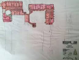 floor plans of the mission inn and catacombs inside the inland