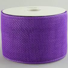 deco mesh ribbon 4 poly mesh ribbon purple rs200123 mardigrasoutlet
