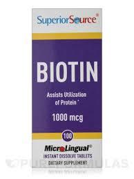 Biotin African American Hair Growth 1000 Mcg 100 Dissolvable Tablets