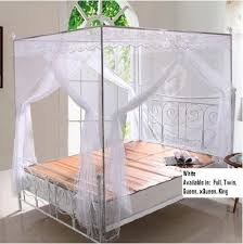 Bed Canopy Frame 1 Best Buy White Lace Luxury 4 Post Bed Canopy Mosquito Net Set