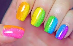 rainbow nails sponge gradient youtube