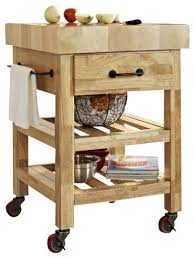 marston butcher block kitchen cart natural traditional