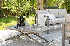table de jardin haut de gamme salon de jardin résine tressée alu salon en résine