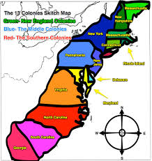 13 colonies map to color and label although notice that they have
