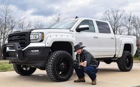 badass trucks kid rock receives custom built rocky ridge gmc sierra pickup truck