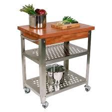 John Boos Work Table John Boos Chycucr3020 Cucina Rustica Cherry Top Kitchen Cart W