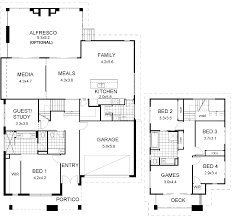 floor plan friday split level modern