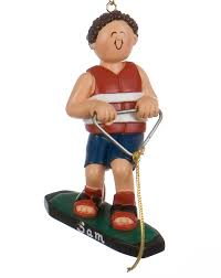 wakeboarder personalized ornament