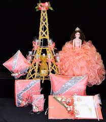quinceanera packages eiffel tower quinceanera package toasting set doll pillows