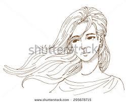 wind blow hair stock vector 295678715 shutterstock