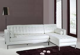 enchanting white tufted leather sectional white tufted leather