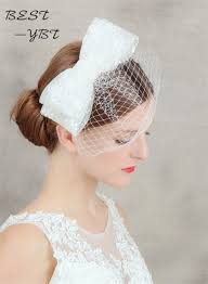 headdress for wedding bow hair hair clip cage veil headdress wedding hat headdress and
