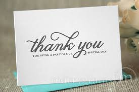 thank you for being a part of our special day card curly style