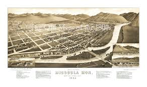 Map Of Missoula Montana by Sepia Toned Fine Art Map Of Missoula Montana In 1884