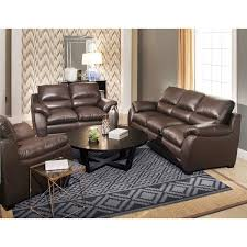 abbyson monarch 3 piece top grain leather sofa set free shipping