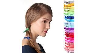 ribbon hair ties rainbow ribbon no damage hair ties 60 pack groupon