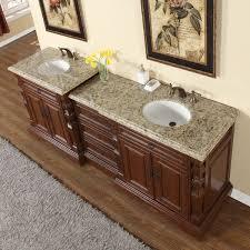 58 Double Sink Vanity Silkroad Exclusive 90 Inch Venetian Gold Granite Stone Top